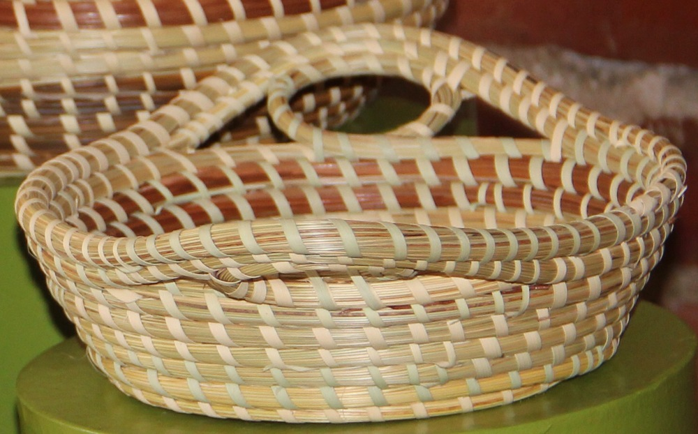 Handcrafted sweetgrass baskets.