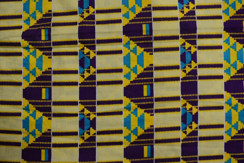 Baby Yellow Kente Print