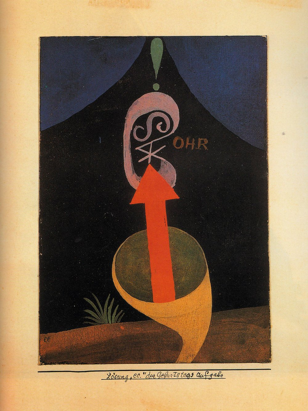"The Klee painting that inspired Roots' Klee label:  Solution ""ee"". of the Birthday Assignment,  1924."