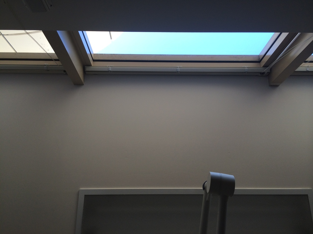 My view for 8 hours. Staring at the ceiling and the beautiful blue sky