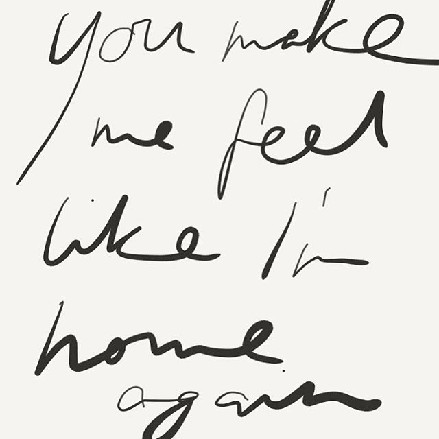 You make me feel like I'm home again. Lovesong by @adele