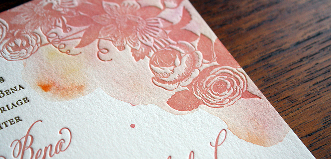 San francisco bay area letterpress printing for weddings watercolor and letterpressg reheart Choice Image