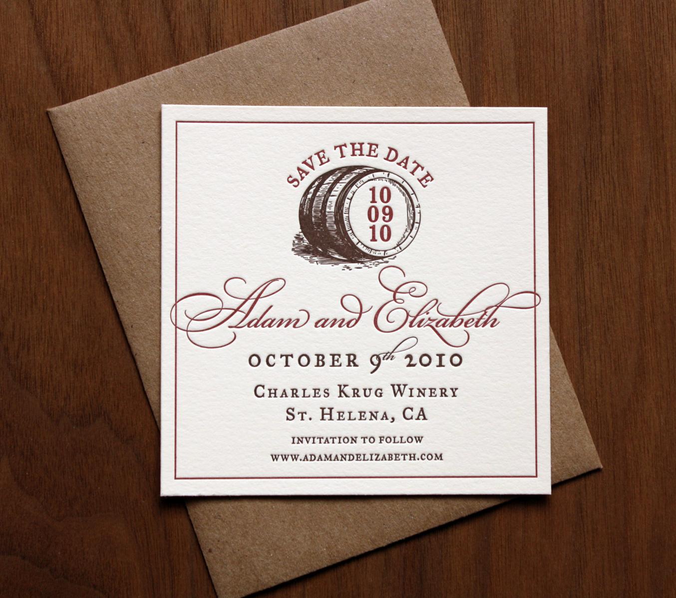 St. Helena Wedding Invitation Set — Paper Monkey Press