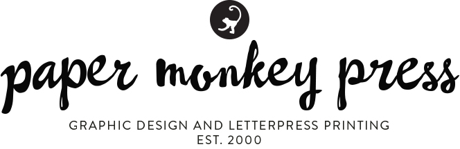 Letterpress printed business cards and tags paper monkey press reheart Choice Image