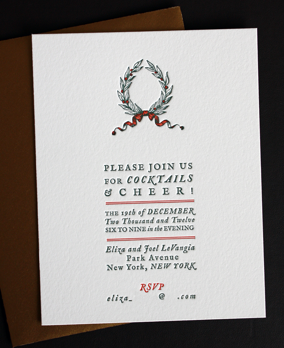Holiday Cocktail Party Invitation Paper Monkey Press
