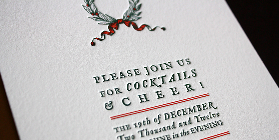 holiday cocktail party invitation  paper monkey press, Party invitations