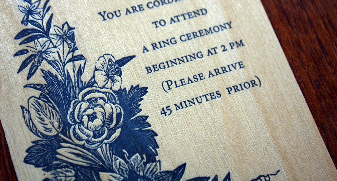 Ring Ceremony Wood Veneer