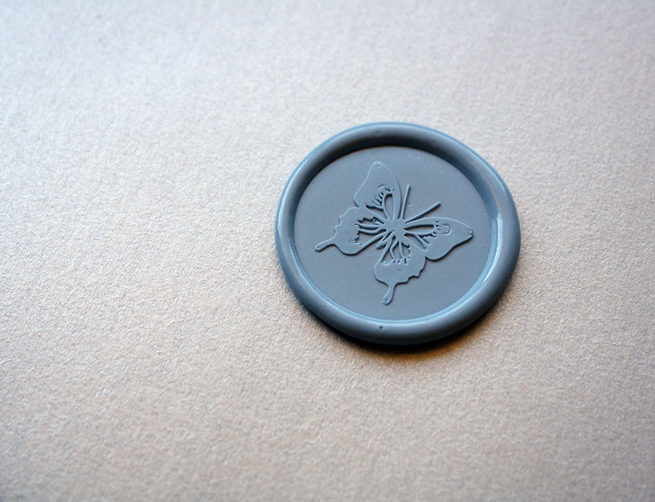 wax seal butterfly