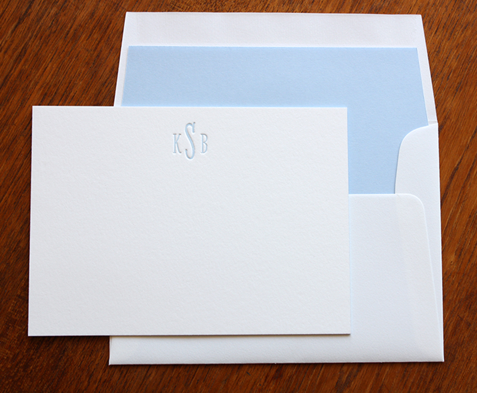 monogram note cards 1