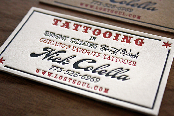 San francisco bay area letterpress printing samples paper monkey tattoo letterpress business card reheart Choice Image