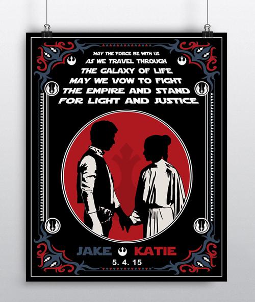 Star Wars Wedding Gift - Han Solo and Princess Leia e8dc65a86
