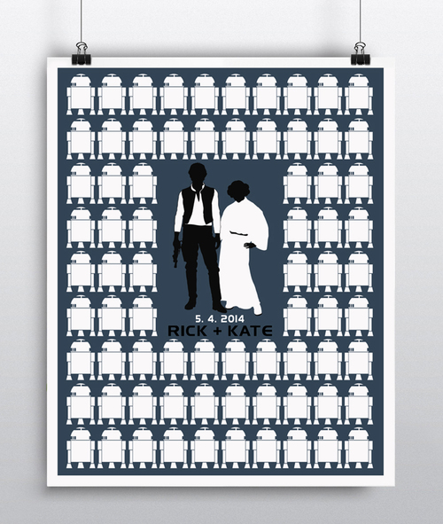 Star Wars Wedding Guest Book Poster