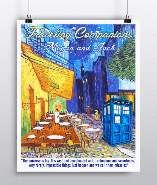Doctor Who Gift - Vincent Van Gogh\'s Café Terrace at Night ...