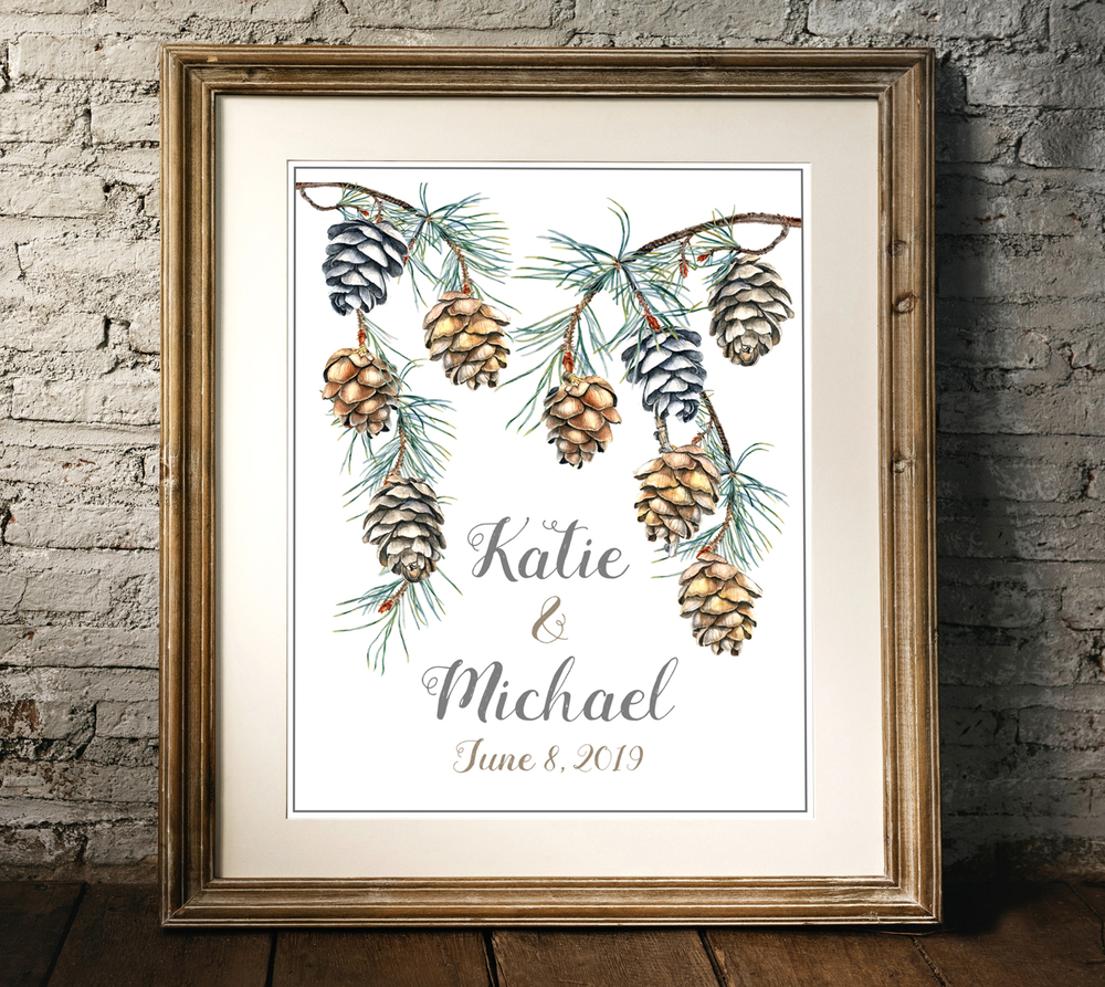 Pinecone Art Frame.png