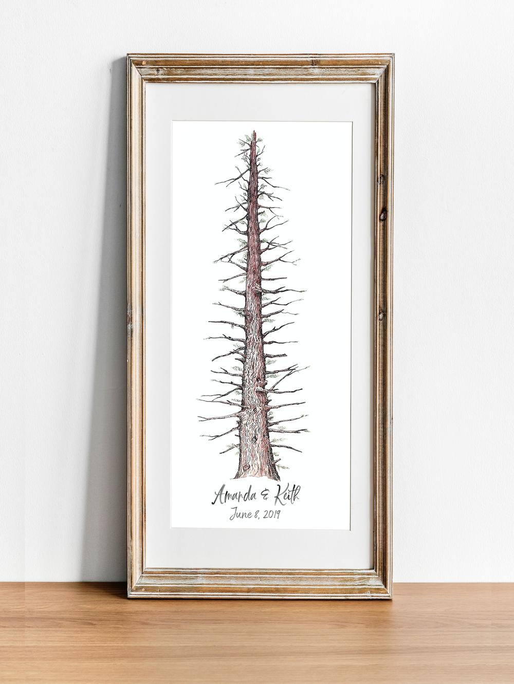 Rustic Redwood Tree Wedding Gift.png