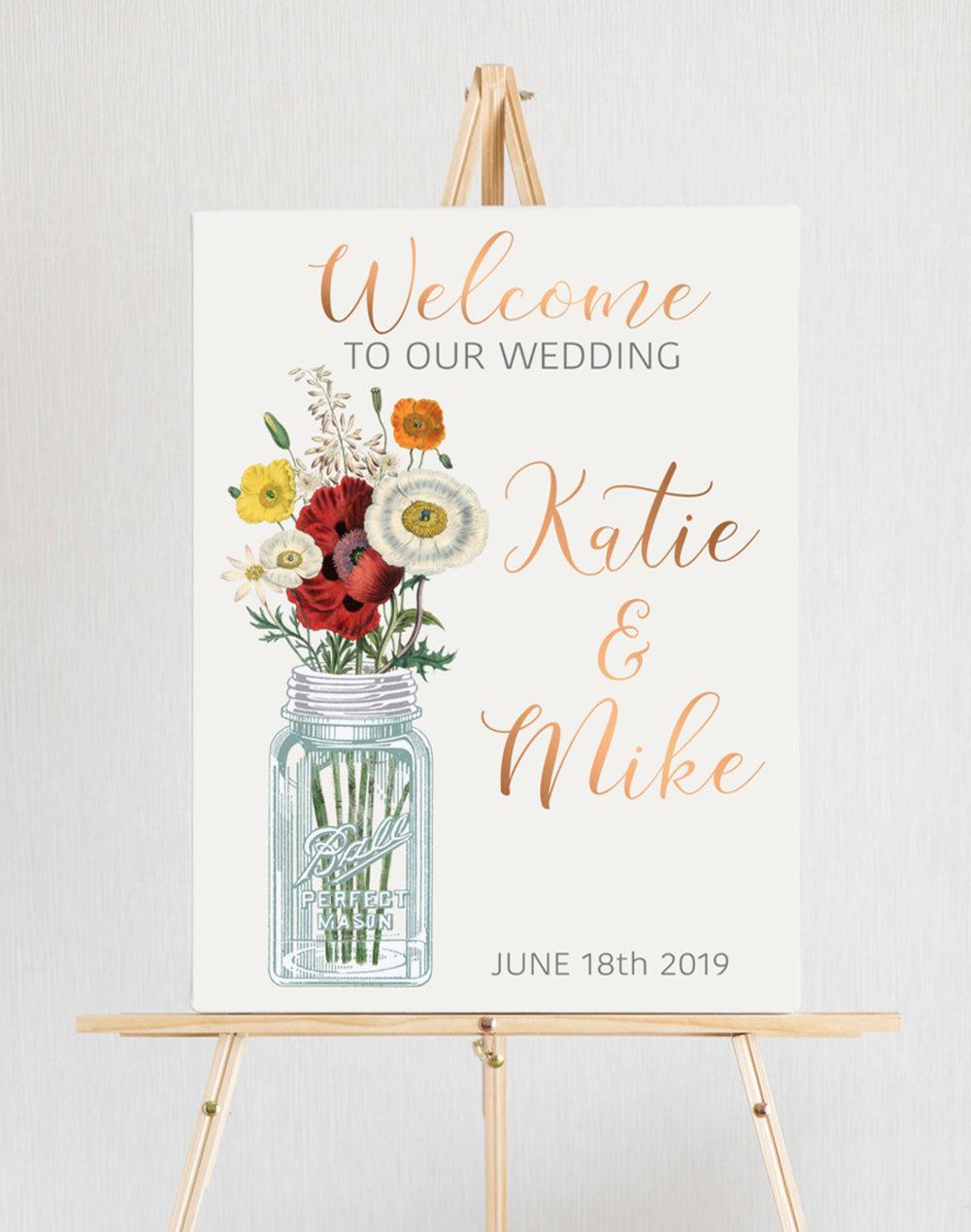 Mason Jar Wedding Easel.jpg