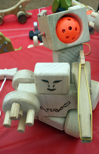 Robot with ping pong launcher and rubber band gun