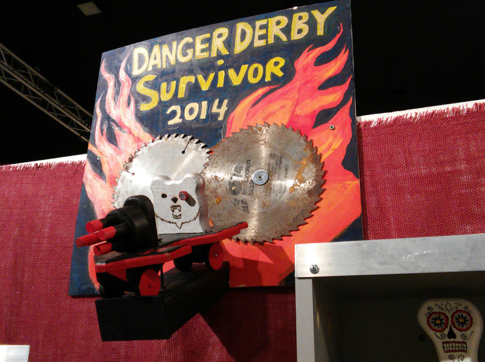 Look for the 2014 Danger Derby Survivor sculpture