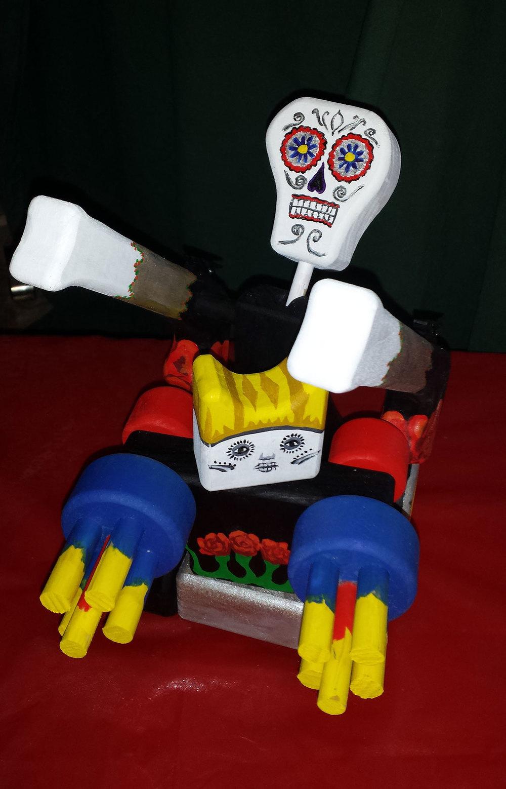 Dia de los Muertos robot tank