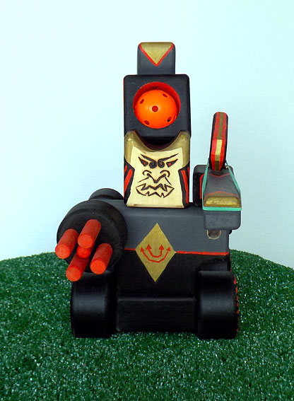 Samurai Robot Ping Pong and Rubber Band Shooter