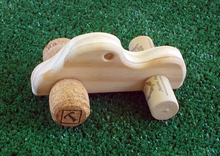 "Newest addition to our inventory -- Small ""cork"" cars!"
