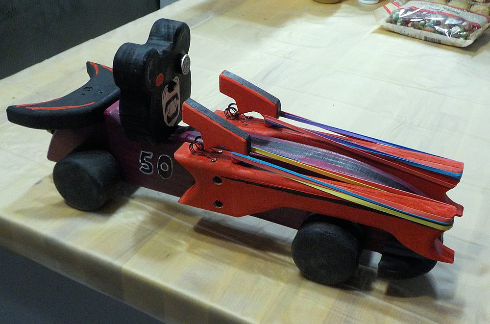 Side view of our derby car