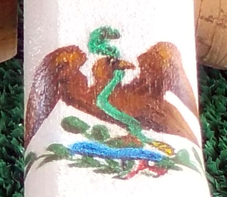 Detail of Mexico flag car