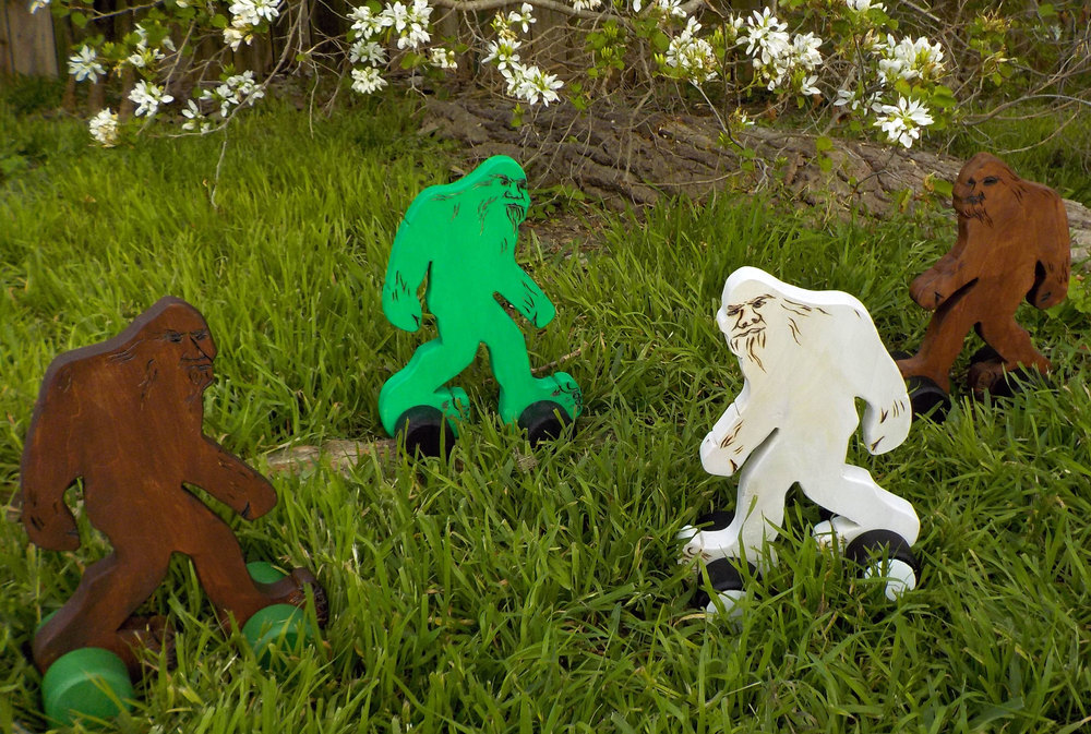 Newest push-toy design: Sasquatch, Big Foot, Yeti, the Abominable Snowman, Monster Gorilla Guy