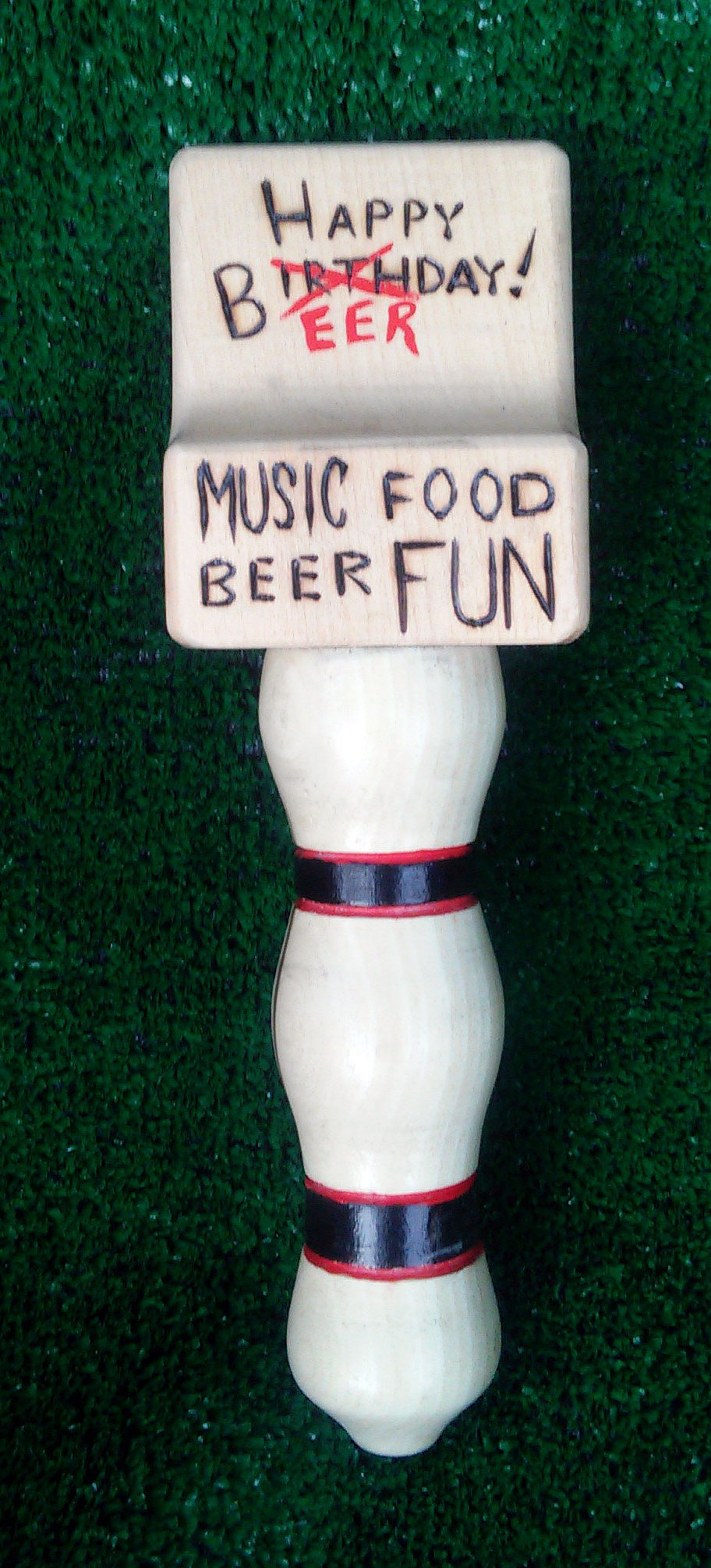 Beer taps are the latest addition to our product line. This was the first custom design. More to come!