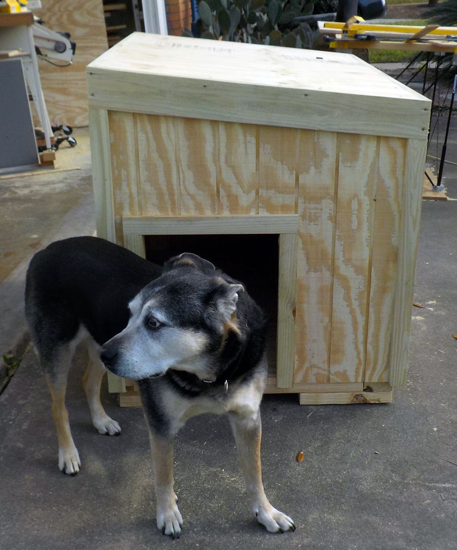 We also had a commission for a dog house.