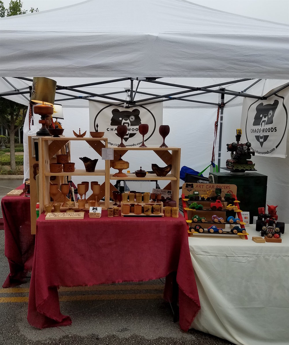 Set up at Kerrville Festival of the Arts.
