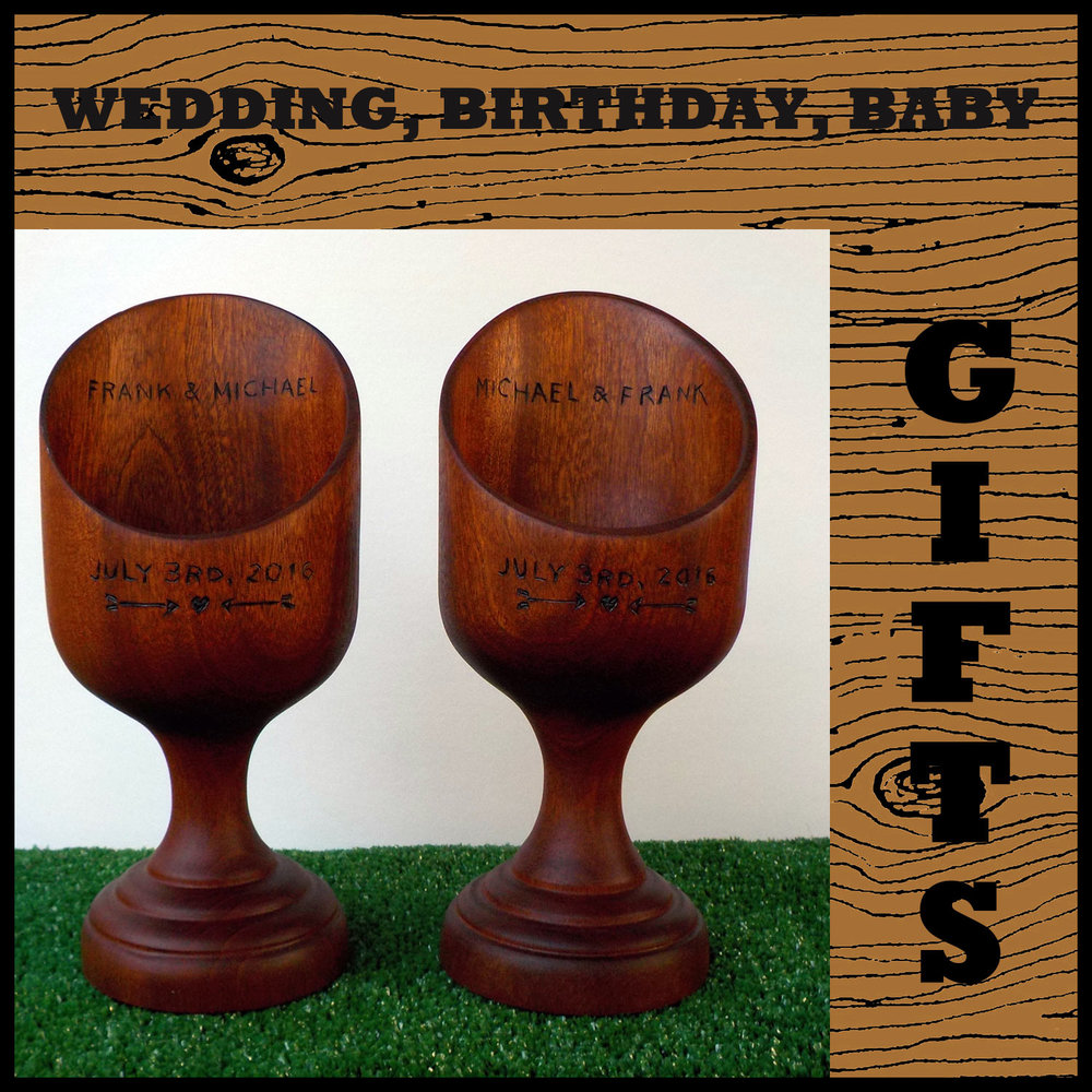 Gifts: Weddings, anniversaries, birthdays and much more! Custom, commissions, and made to order one of a kind gifts.