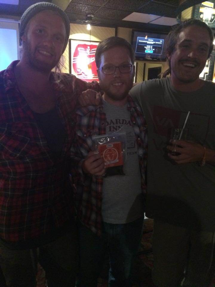We can't help it! This is Waylin from Shoppers Drug Mart Parry Sound with Mickey and Pete, the winners of Amazing Race Canada at their congratulations party at Don Cherry's recently. Congratulations, fellows!