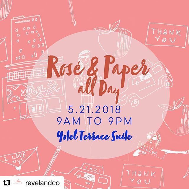 Today is the day!! If you're at NSS, dm me to get an invite to this one day, all day, private, buyer event with SO MANY fabulous people!!! Happening RIGHT NOW. #Repost @revelandco ・・・ NSS Buyers! Today is the day! Join us @Yotel Terrace Suite (just 7 minutes from Javits) and mingle with some great paper brands (tap image to see who!). This is a private event from 9am to 9pm TODAY only. For easy access, DM me and I'll put your name on the guest list! Enjoy good paper, great people, amazing views, and, of course, Rosé All Day! . #nss2018 #roséxpaperallday #stationery
