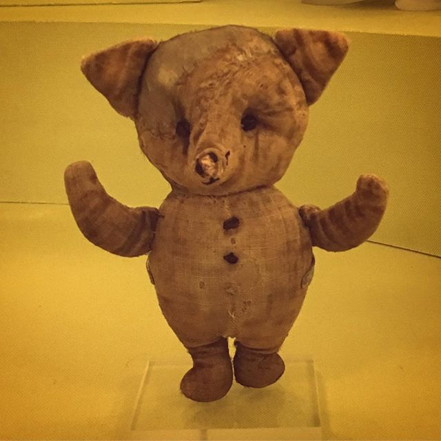 Actual Piglet. Cool, but kinda creepy. #kidlit #winniethepooh #piglet