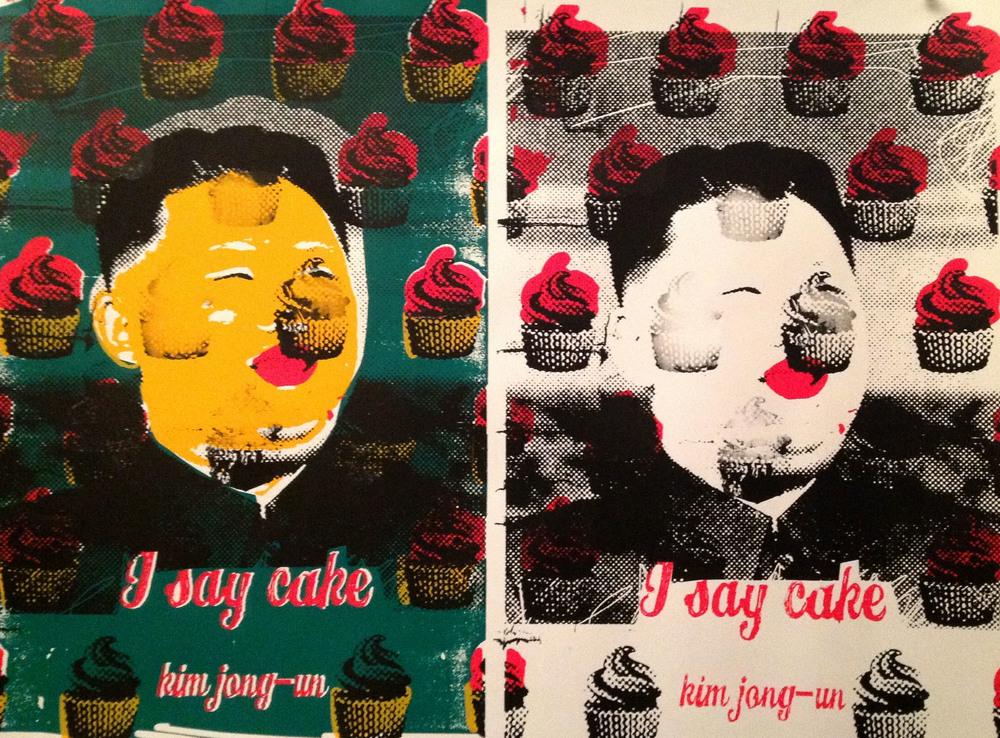 Kim Jong-Un: I Say Cake Diptych. Limited Edition of 22 (Kim Jong-Un: Eu Digo Bolo Diptico. Edição Limitada de 22 copias)