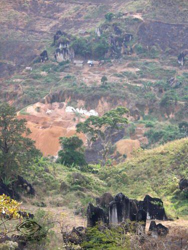Spinel hard rock mining area,Ipanko, Mahenge, Tanzania.