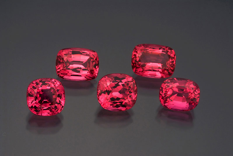 Palagems.com's gem spinels from Mahenge, Morogoro Region, Tanzania. The largest weighs 5+ carats.