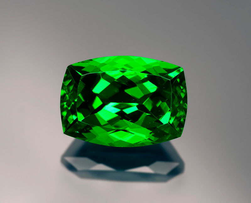Fine 5-plus-carat tsavorite from the Lualenyi Mine.
