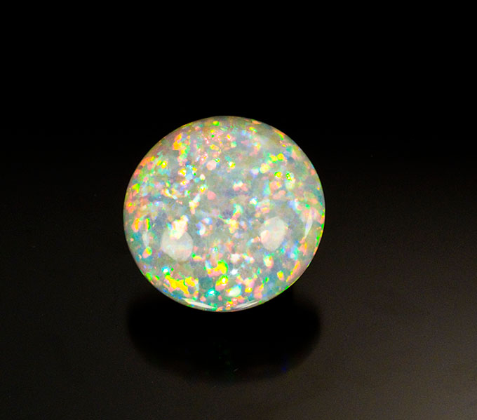 A fine 30-plus-carat Eithiopian opal from Wello (aka Wollo).