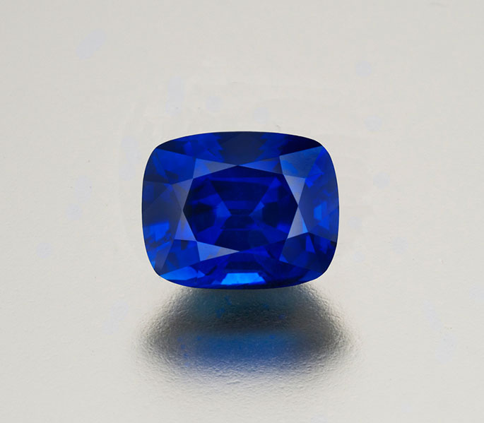 Sapphire, Madagascar (mined in Ilakaka or perhaps in Andranondambo), 3.65 ct, 9.38 x 7.54 x 5.9 mm.