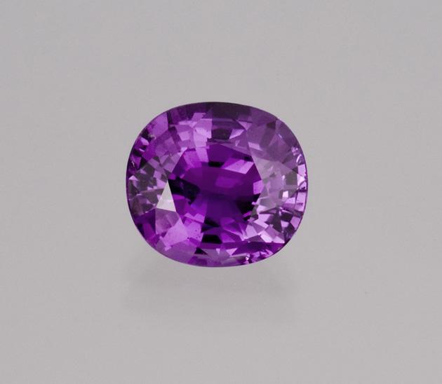 Intense purple-pink Ilakaka sapphire, 7+ carats