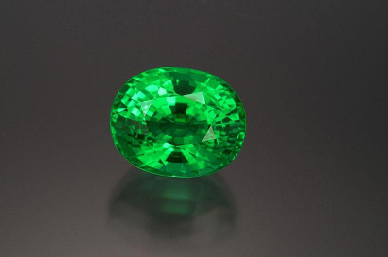 Rare copper tourmaline, 15+ carats, natural-colour greenish Paraiba.