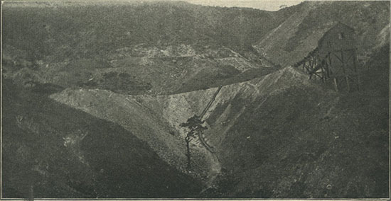 An iron mine in the mountains, Lower California