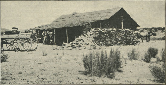 Cheese storehouse on ranch of Señor Roderiquez, Lower California