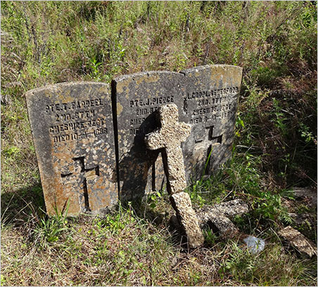 "Rest in pieces. Yet another story from the Mogok region was published last week by The Irrawaddy. ""In Shan Hills, an Old British War Cemetery Fallen Victim to Neglect,"" looks at the crumbling 19th-century British war cemetery in Bernardmyo. The above photo was taken last November during a Gem and Mineral Council of the Natural History Museum of Los Angeles Council-sponsored tour of Mogok, including the town named after Upper Burma Chief Commissioner Sir Charles Edward Bernard, who founded it for a British army garrison in the early 1880s. (Photo: Eloïse Gaillou © NHMLAC)"