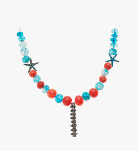 Magical.  Above, necklace with cylinder amulet case, 1700–1550 BCE. Silver, glazed crystal, carnelian, and faience (a ceramic glaze for quartz beads). Harvard University—Boston Museum of Fine Arts Expedition. Below, string of beads with a glazed quartz pendant, 1700–1550 BCE. Faience, glazed quartz. Harvard University—Boston Museum of Fine Arts Expedition. (Photos © Museum of Fine Arts, Boston)