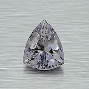 Snow white.  A silvery spinel from Burma, 3.50 carats. Inventory  #22236 . (Photo: Mia Dixon)