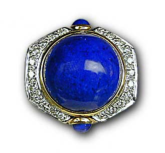 The above stone is an example of why Afghan lapis lazuli is in a league all its own. (Jewelry: The Collector; photo: John McLean)