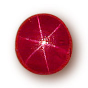 This 4.86-ct. star ruby from Pala International is one of the finest examples to come out of Mogok in years.  (Photo: John McLean; Gem: Pala International)